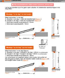 meetinstructies voorzet plisse hor